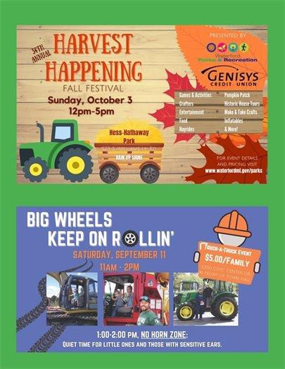 Harvest Happening & Big Wheels Keep on Rollin