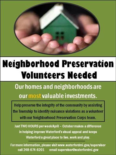 Neighborhood Preservation Corps