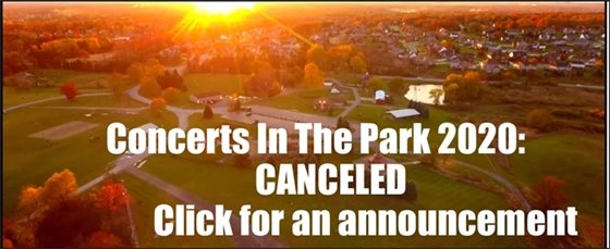 Concerts in the Park 2020 Canceled