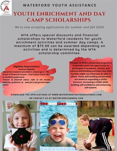 Youth Enrichment and Day Camp Scholarships