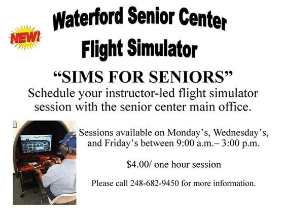 Senior Center Flight Simulator