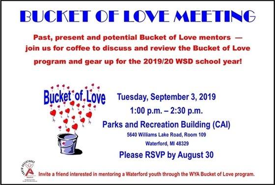 Bucket of Love Meeting