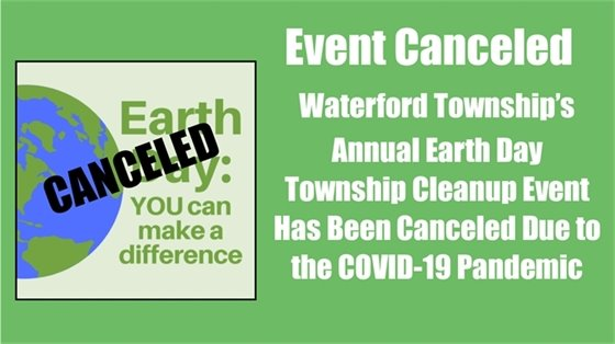 Earth Day Township Cleanup Event Cancelled