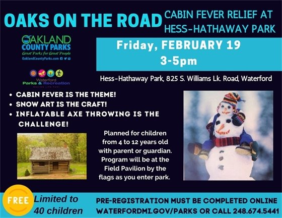 Cabin Fever at Hess Hathaway