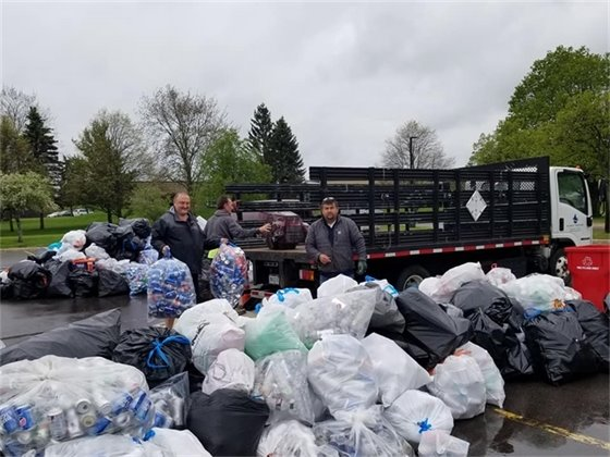 Can and bottle drive piles