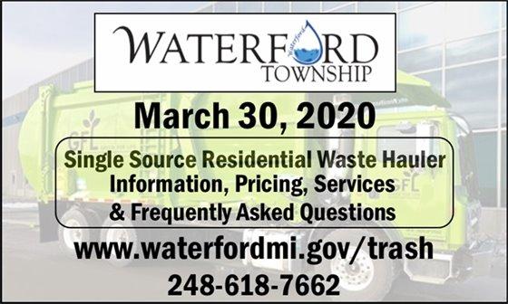 March 30, 2020 Single Source Hauler update