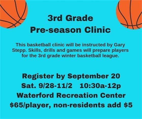 Third Grade Pre-Season Clinic