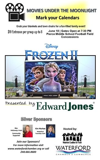 Movies Under the Moonlight June 18th Pierce Middle School 7:30pm