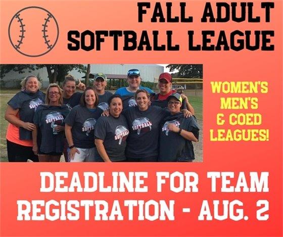 Fall Adult Softball