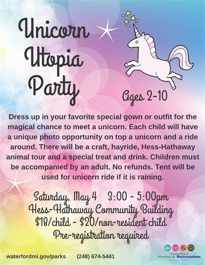 Unicorn Utopia Flyer