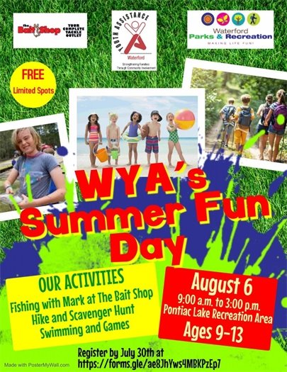 Waterford Youth Assistance Summer Fun Day August 6