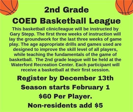 Second Grade Coed Basketball