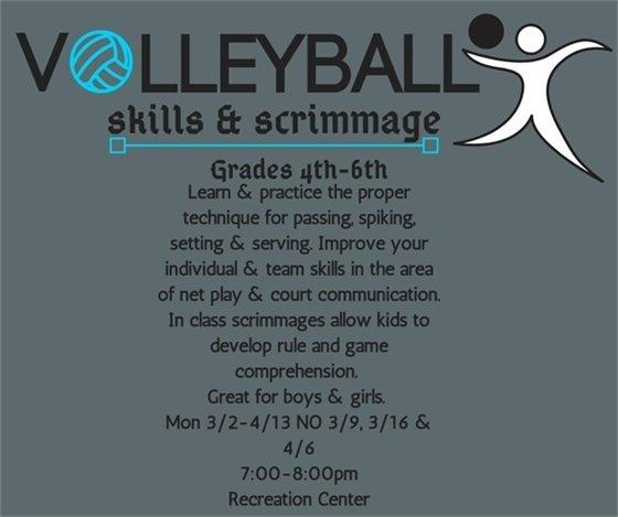 Volleyball Skills & Scrimmage