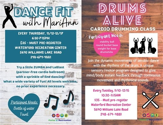 Dance Fit and Drums Alive