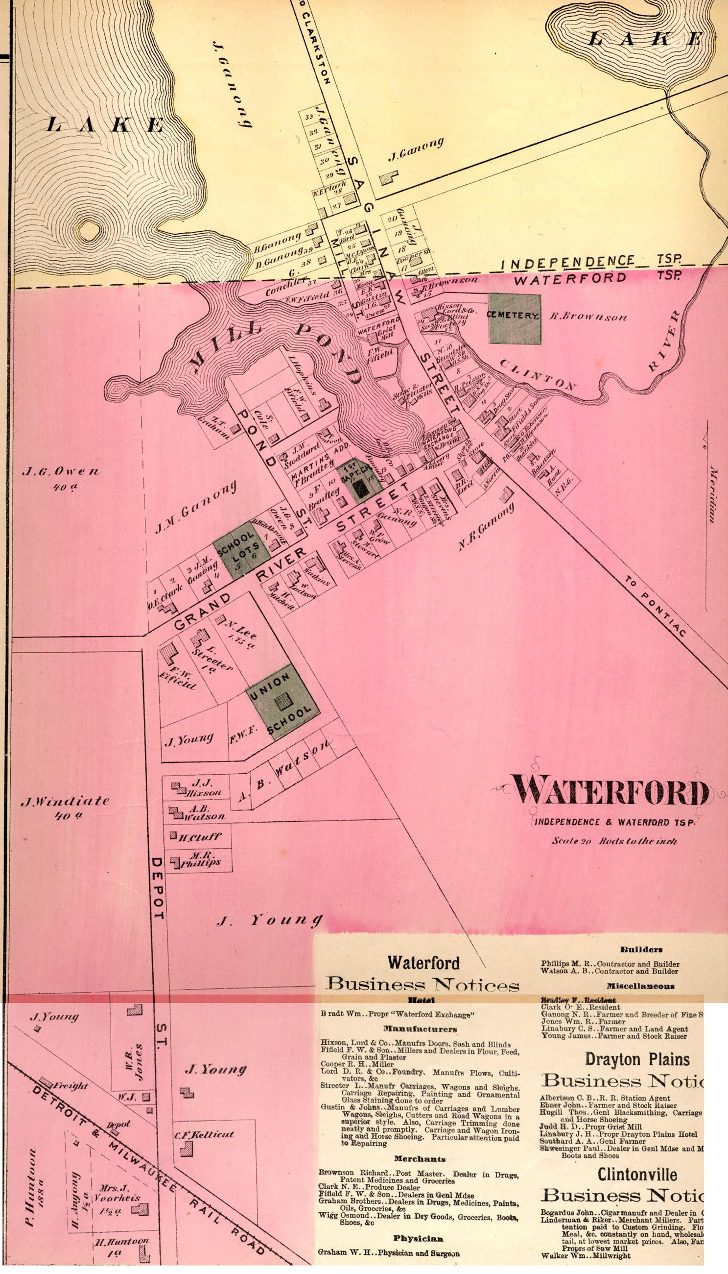 Waterford Historical Maps Waterford MI
