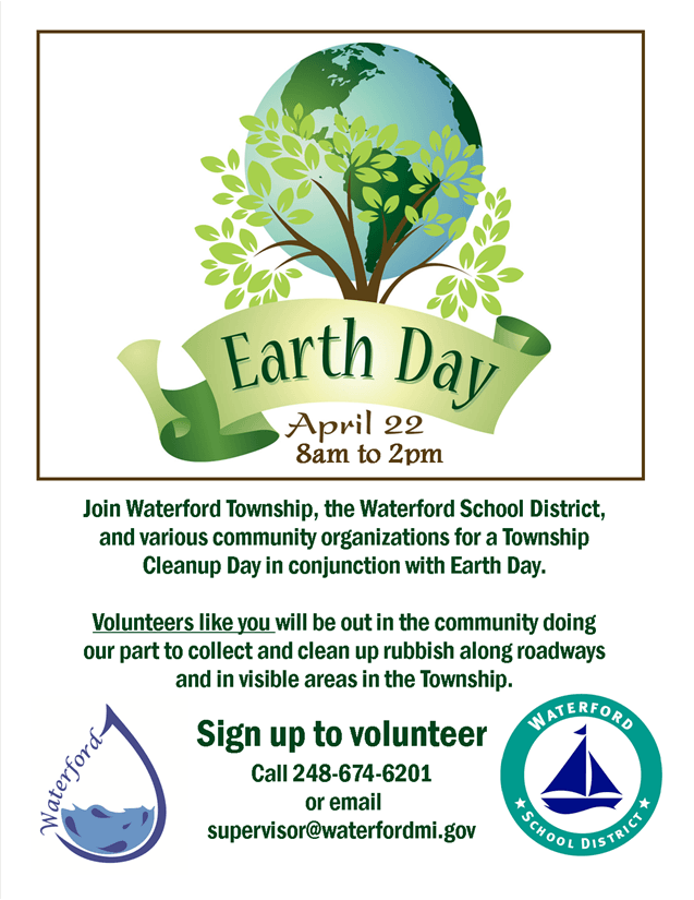 earth day letter sized flyer