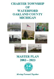 Chater Township of Waterford Oakland County Michigan Master Plan Cover