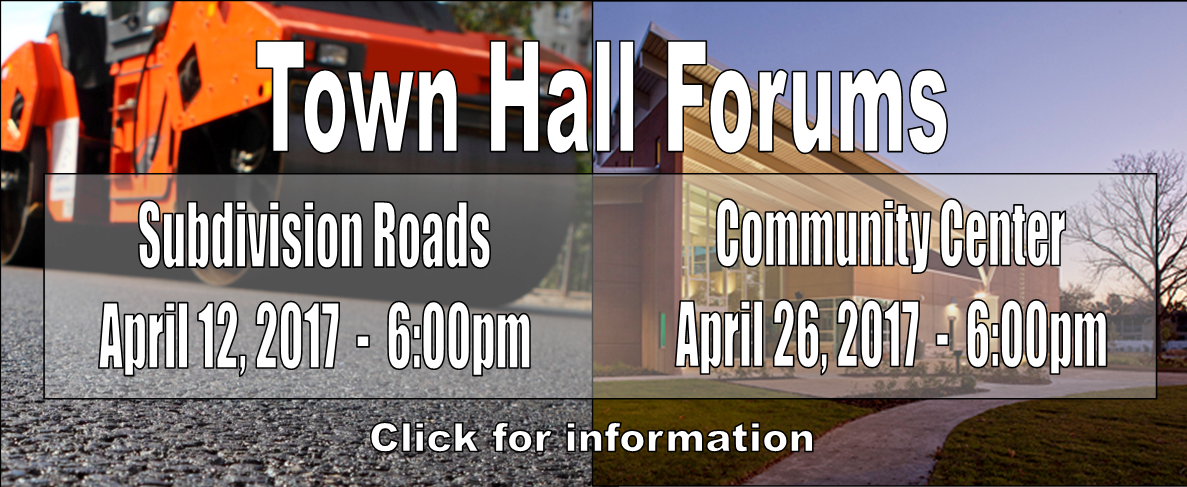 Town Hall website banner