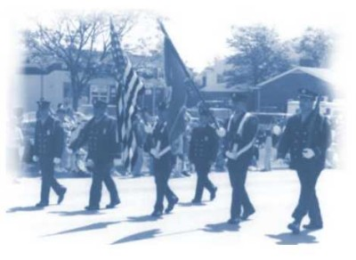 Honor Guard marching in the annual Waterford Memorial Day Parade.