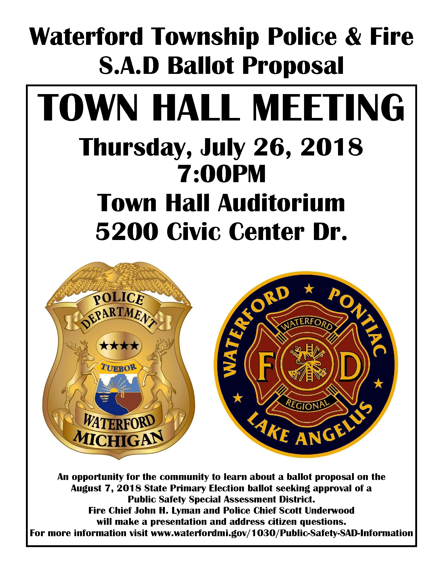 Town Hall Meeting 72618