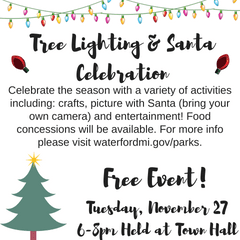 Annual Tree Lighting Santa Celebration