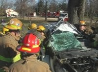 Fire Fighter Car Accident