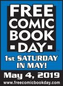 Graphic of Free Comic Book Day 2019 poster