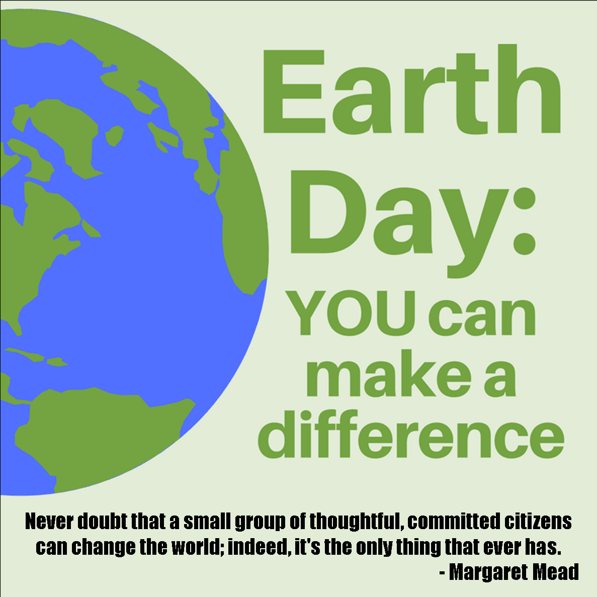 You can make a difference graphic Earth Day