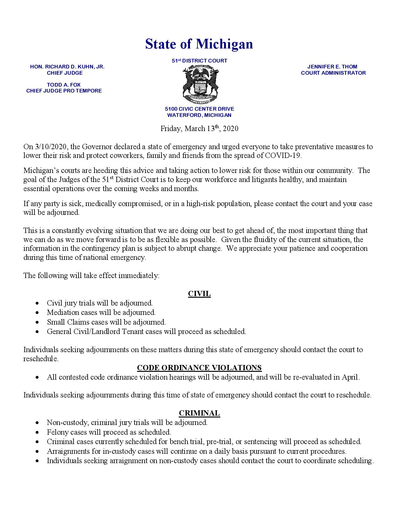 Public Notice COVID-19 - Friday March 13th 2020-page-001