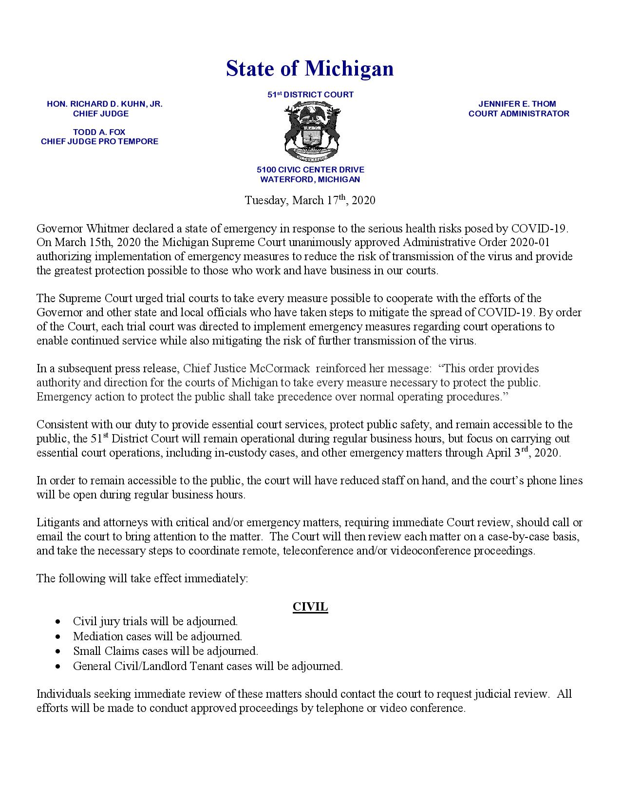 D51 Public Notice Update - Tuesday March 17th 2020-page-001