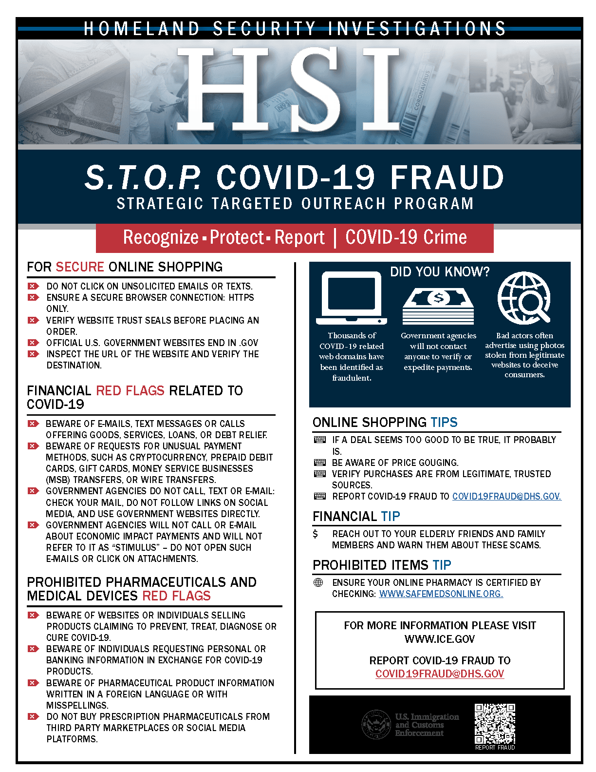 HSI STOP COVID19 FRAUD