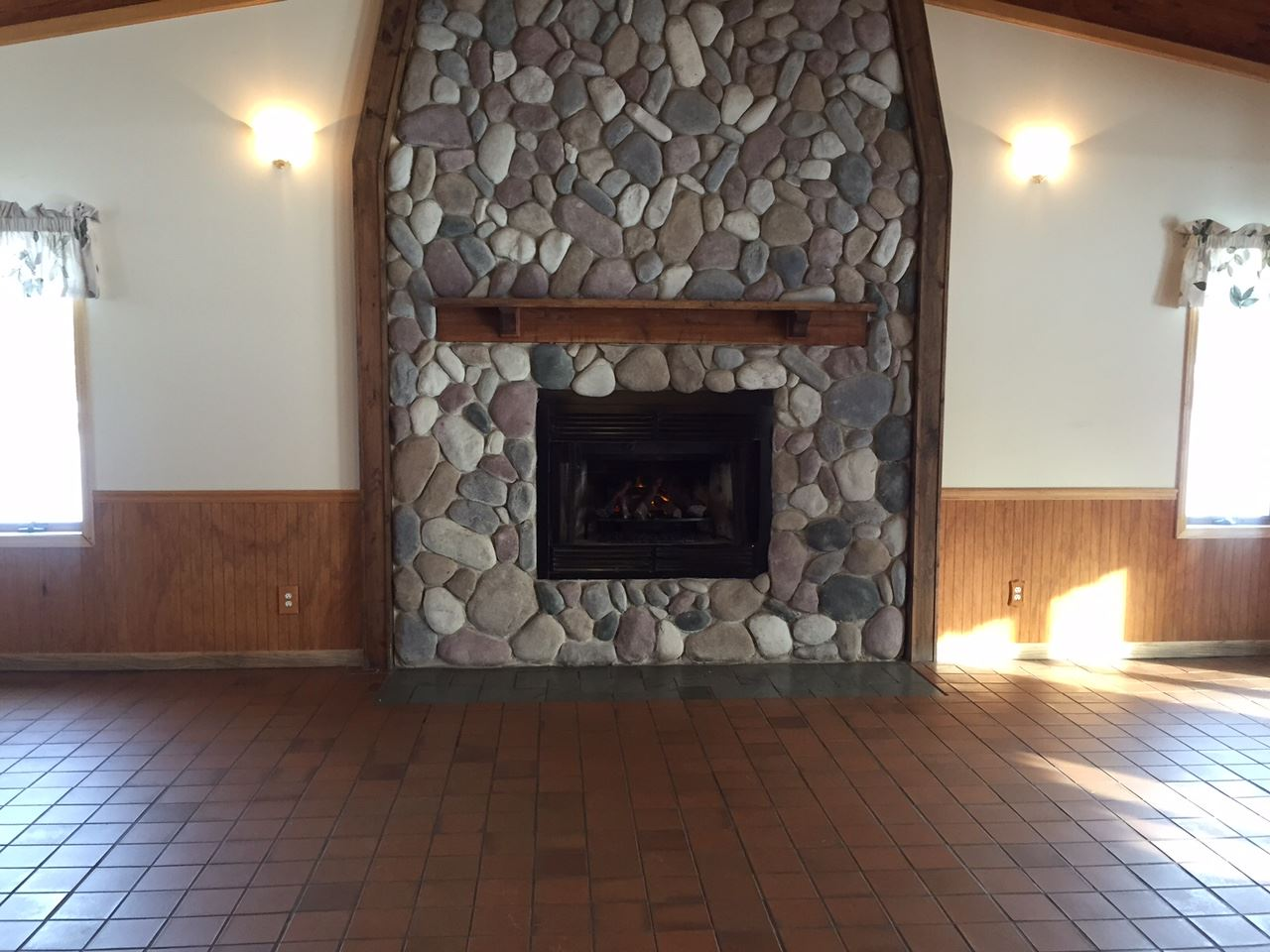 Community Building Fireplace