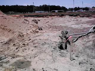Digging begins on the new police station. July 200