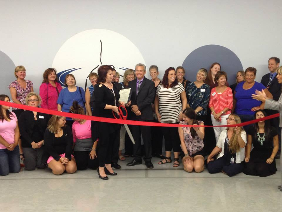 Group Photo Ribbon Cutting