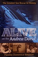 "The book cover of ""Alive on the Andrea Doria"" by Pierette Domenica Simpson."