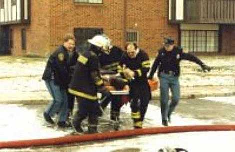 Woman Rescued from Town Center Apartments (1992)